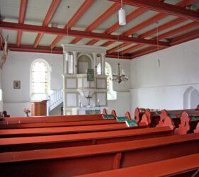 Kirche Altgolßen, innen, Blick nach Osten