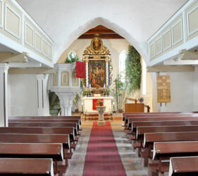 Kirche Frankena, innen, Blick nach Osten