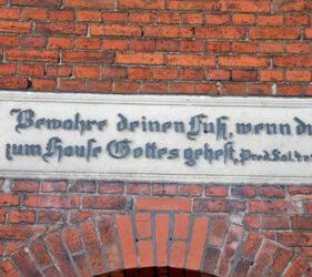 Kirche Freiwalde, Spruchtafel