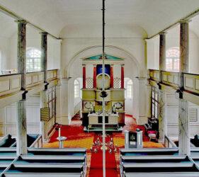 Kirche Golßen, innen, Blick nach Osten