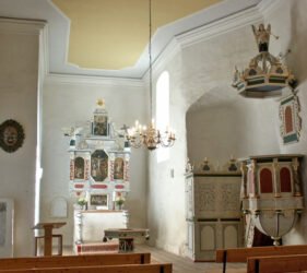 Kirche Uckro, innen, Blick nach Osten