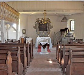 Kirche Großkrausnik, innen, Blick nach Osten