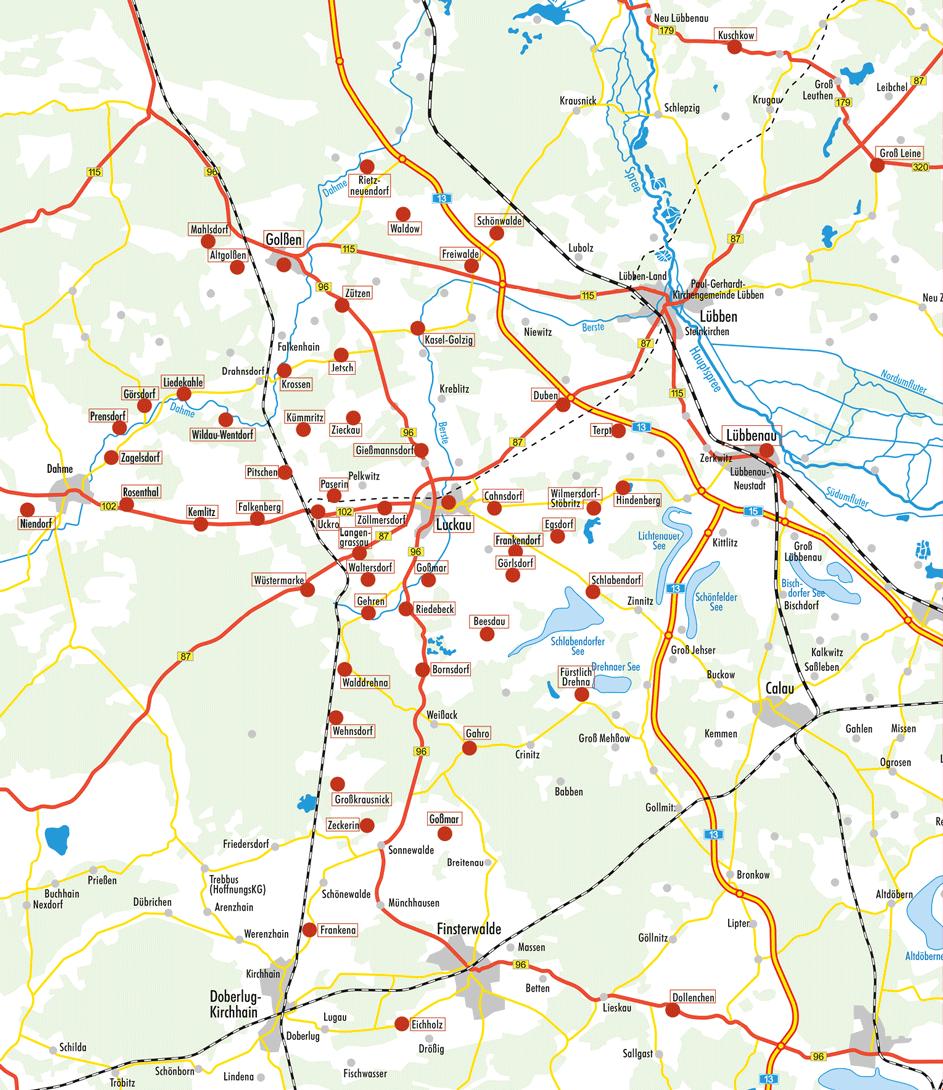 Förderkreis – Karte der Mitgliedskirchen, Stand 11/2020