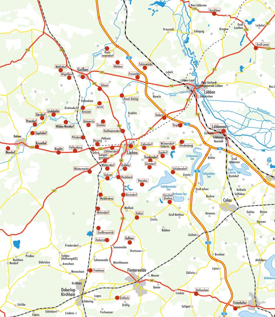 Förderkreis – Karte der Mitgliedskirchen, Stand 09/2021
